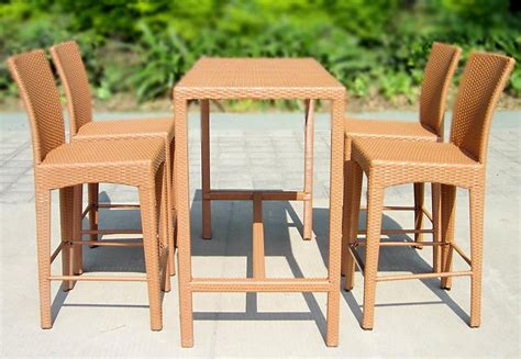 outdoor furniture bar table rattan chair bar stool