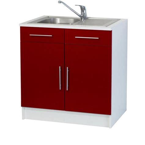 meuble sous evier cuisine 120 cm trendy 8 meuble sous évier 2 portes l80 cm achat