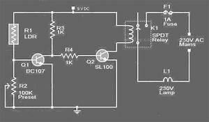 Rangkaian Control Lampu Jalan Dengan Ldr