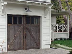 barn wood garage doors in marin county traditional With barn door looking garage doors