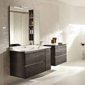 meuble salle de bain 90 a 120 cm espace aubade With salle de bain design avec meuble rangement salle de bain