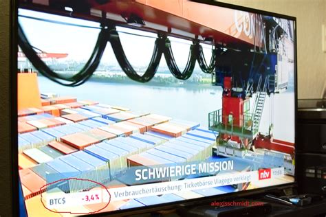 Price change, high, low, volume on multiple timeframes: Bitcoin Live Ticker now in German TV
