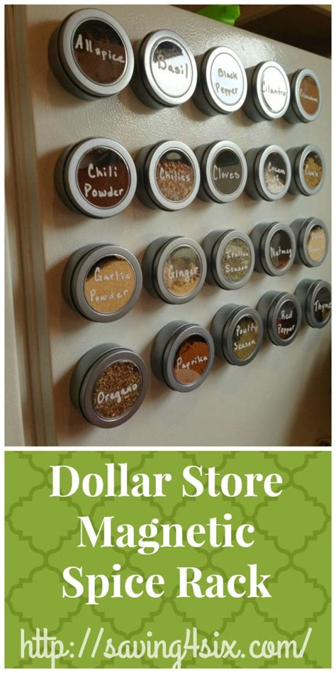 Dollar Store Spice Rack by Dollar Tree Magnetic Spice Organizer