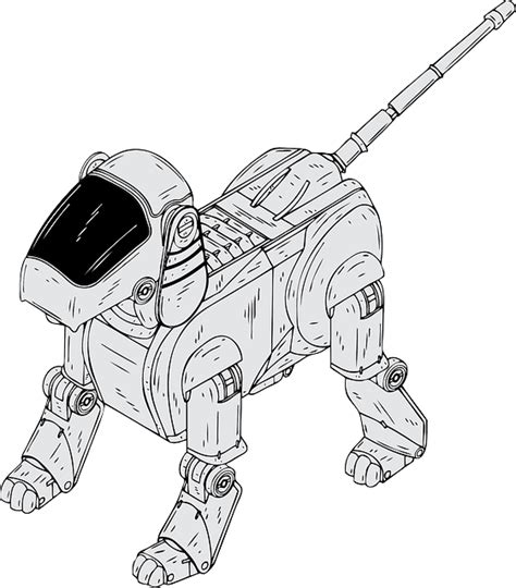 robotic dog electronic  vector graphic  pixabay