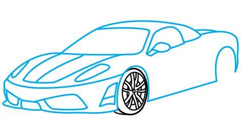 ferrari drawing how to draw ferrari 360 a sports car easy step by step