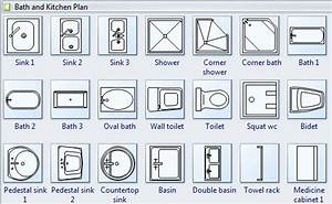 Floor plan symbols clipart clipart suggest for Interior design kitchen symbols