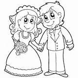 Coloring Bride Groom Pages Surfnetkids Royal sketch template