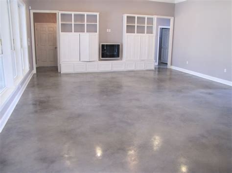 Grey Stained Concrete Floors Basement Floor Grey Pictures