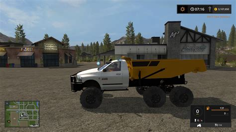 dodge dump rock truck  mod farming simulator
