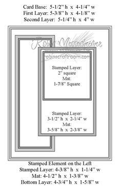 card making measurements images card sketches