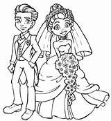 Groom Bride Coloring Drawing Stamps Draw Digi Cartoon Clipart Couple Modern Colouring Printable Couples Digital Drawings Outline Children Hang Brides sketch template