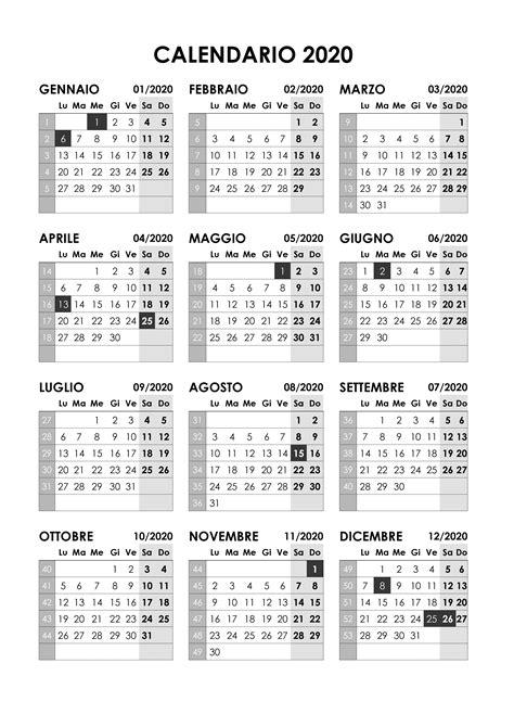calendario annuale calendariosu