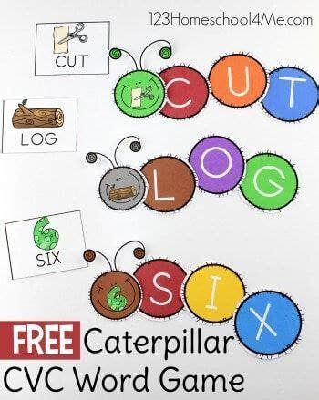 caterpillar cvc words  images cvc word