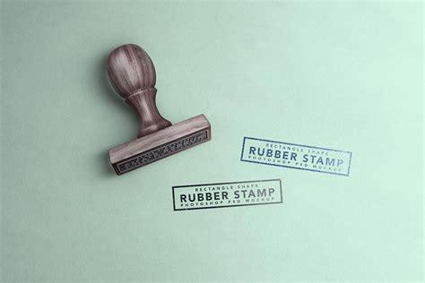 wooden rubber stamp mockup mockuptree
