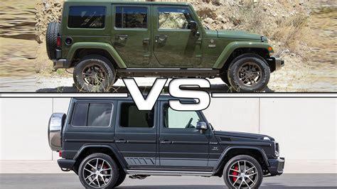 G Wagon Vs Jeep jeep wrangler unlimited vs mercedes g500