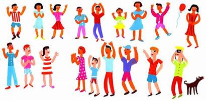 Lots Happy Crowd Portfolio Illustrator Artist