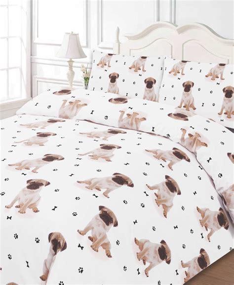 pug   print dog bedding twin full queen king duvet