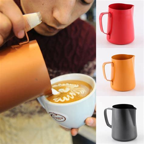 Shiny glossy coffee cup making silicone molds keychain polymer clay mold necklace epoxy jewellery silicone mold resin crafting molds diy keychain mold 4.0 out of 5 stars 1 $6.99 $ 6. Aliexpress.com : Buy 600ml Coffee Pull Cup Stainless Steel Flower Pot Milk Mouth Mold Frothing ...
