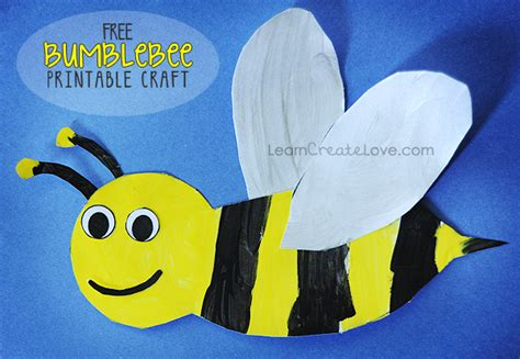free bumblebee themed printables and crafts for preschoolers 315 | bee 004