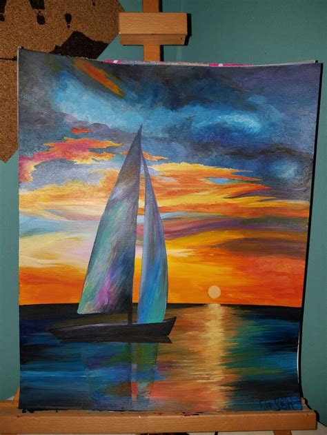 Sailboat Color by Best 25 Sailboat Painting Ideas On Paint