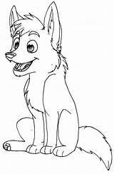 Wolf Coloring Pages Baby Printable sketch template