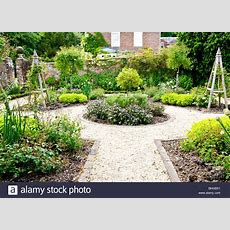 A Formal Herb Or Kitchen Garden In The Grounds Of An