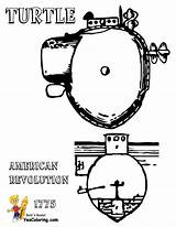 Submarine Coloring Pages Turtle American Yescoloring 1776 Holland Uss Boss Navy sketch template