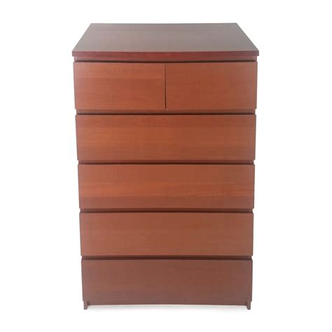 50% OFF  IKEA Malm 6 Drawer Dresser Storage