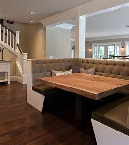 Elegant Dining Room Booth Corner Table Kitchen Diy Built