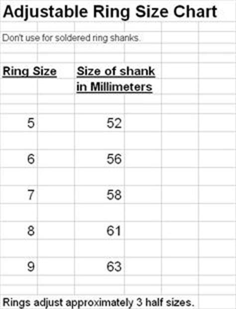 Ring Sizing Template by Bracelet And Ring Shank Sizing Template Tool For