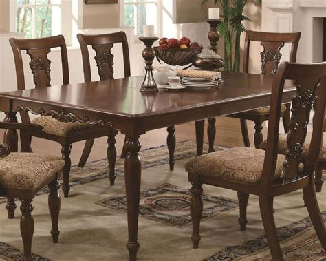 coaster traditional dining table addison