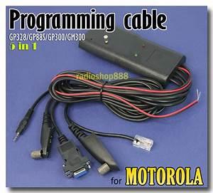 5 In 1 Program Cable Motorola Gp300 Gp68 Gm300 Gp328