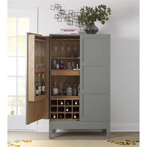 Crate And Barrel Liquor Cabinet by Victuals Grey Bar Cabinet By Pinch For Crate
