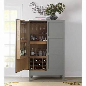 victuals grey bar cabinet by russell pinch for crate With kitchen cabinets lowes with crate and barrel wall art sale
