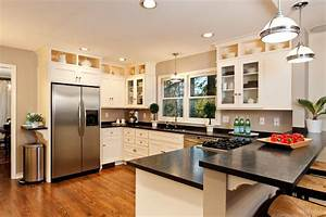 kitchen peninsula ideas top white modern ideas brown With best brand of paint for kitchen cabinets with wall art houston tx