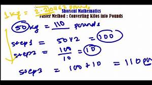 Fast Method To Convert Kg To Pounds - Unit Conversion Trick- Fast Math Calculation