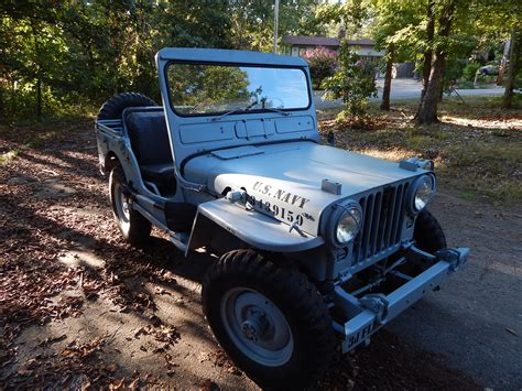 jeep navy blue 1952 willys m38 navy jeep classic military vehicles