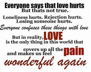 Love Hurts Poems Quotes. QuotesGram