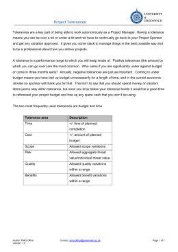 General tolerances for Iinearand angular