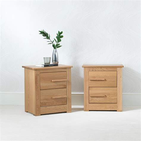 Bedside Tables by Ora Oak Small Bedside Table 2 Drawers Con Tempo Furniture