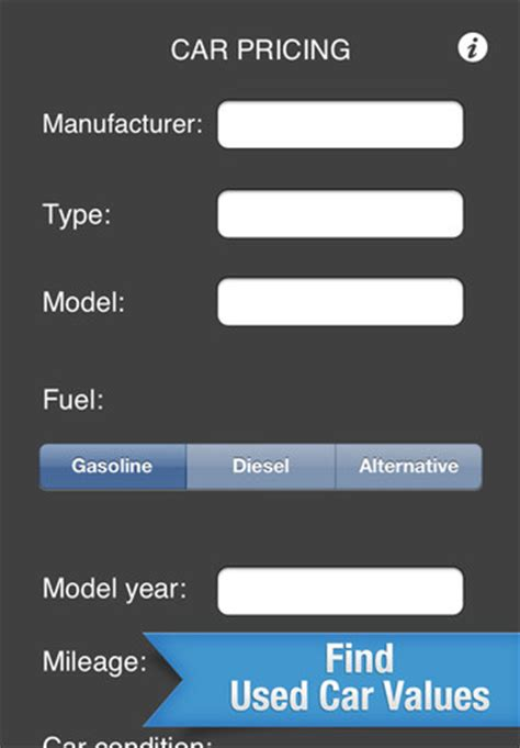 car calculator basic find  car values  app