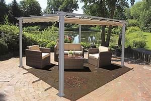 Alu pergola 395x225cm terrasse uberdachung pavillon for Sonnendach terrasse