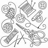 Sewing Collage Urbanthreads Embroidery Needlework Line Tools Patterns Thread Outline Drawings Urban Coloring Threads Pattern Quilting Change Stitch Stitching Paper sketch template