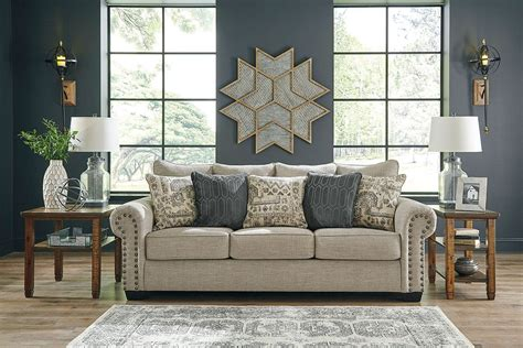 zarina jute sofa  signature design  ashley furniturepick