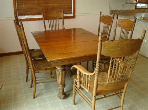 Oak Dining Room Chairs by Vintage Oak Dining Room Set Eight Chairs Ebay