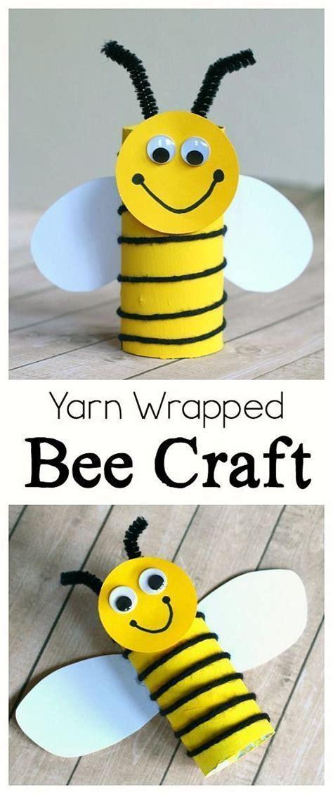cardboard bee craft for using yarn crafts 881   7506fc37318361549437b3ec94cfddb4