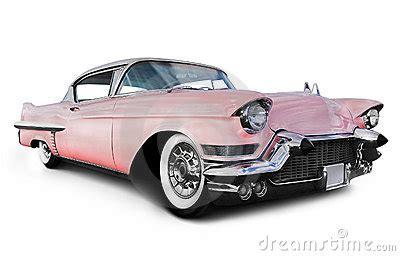 pink cadillac car stock photo image