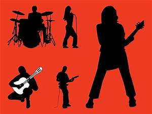 Rock Band Silhouettes Graphics Vector Art & Graphics ...