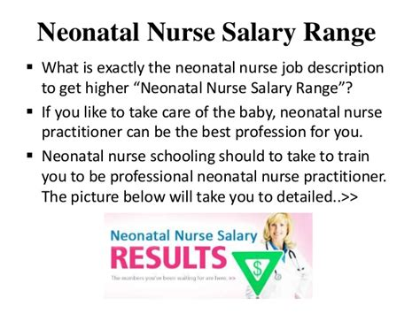 Neonatal Description And Duties by Neonatal Salary Range