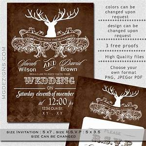 Printable wedding invitation template antler wedding for Free printable deer wedding invitations